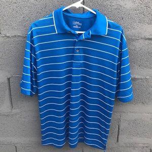 Blue Striped PGA Tour Polo